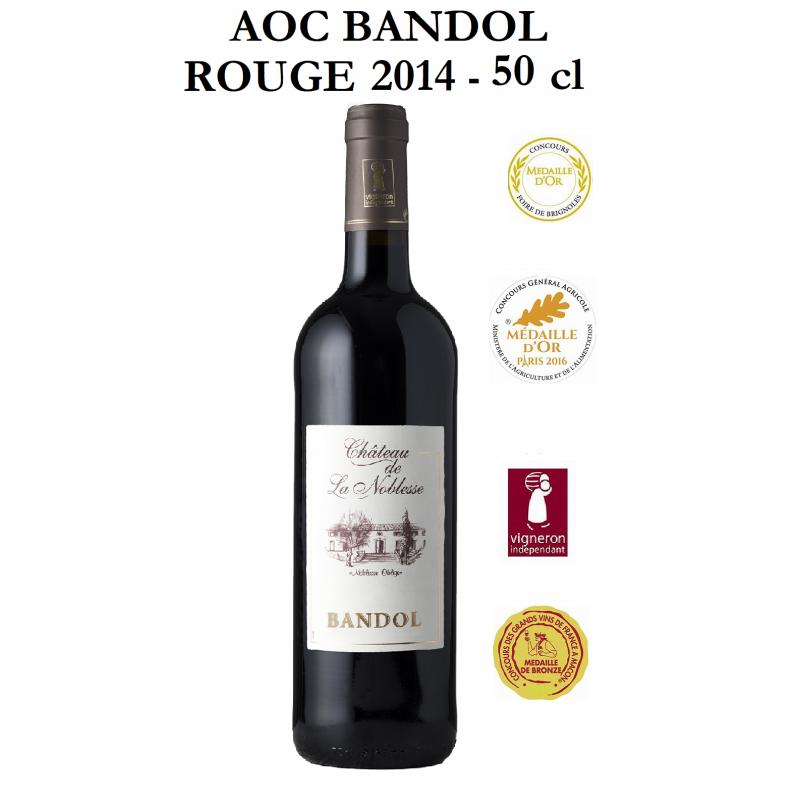 Vins rouges AOC BANDOL du Château de Noblesse - Cuvée Noblesse 2014