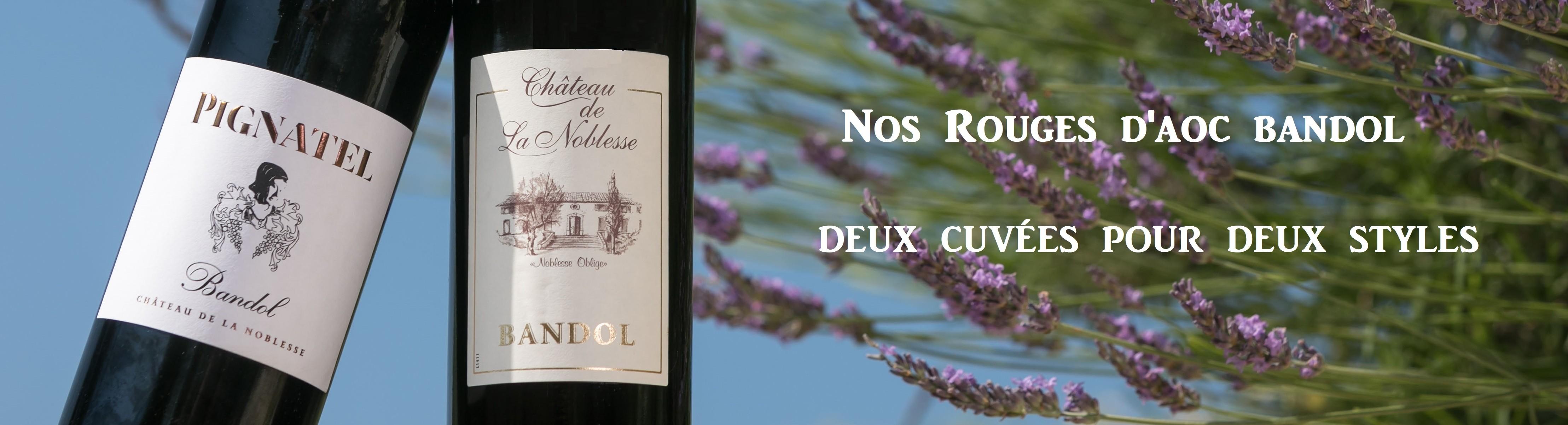 Vins rouges de Bandol Noblesse - Pignatel